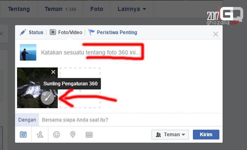 cara mengunggah foto panorama 360 ke facebook