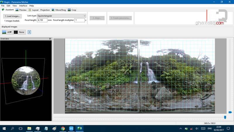 cara membuat foto panorama 360