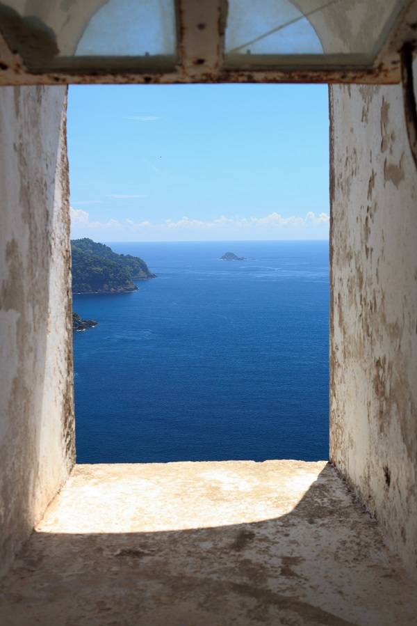 the window from the westest lighthouse in Indonesia