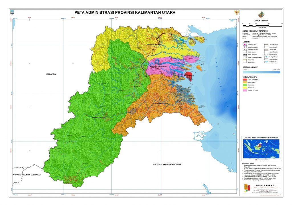 peta-administrasi-kalimantan-utara