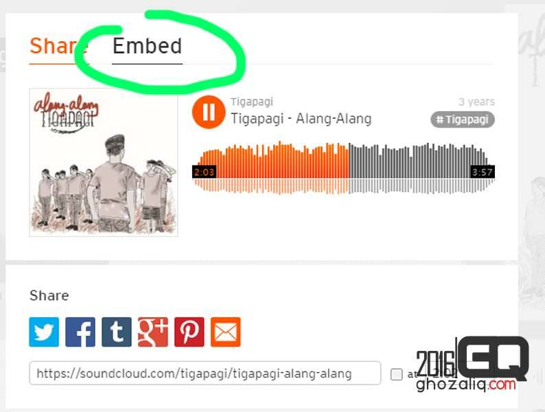 embed soundcloud wordpress ghozaliq
