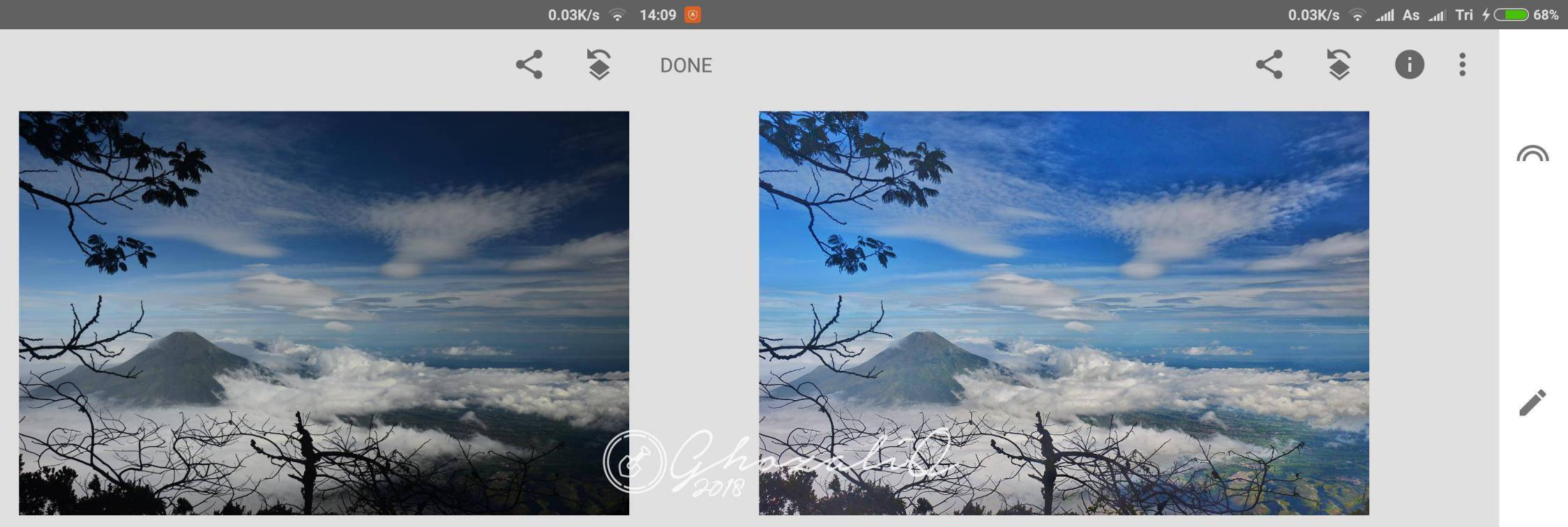 Edit foto landscape di snapseed android