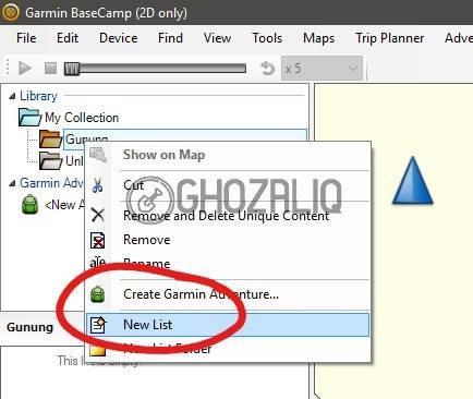 memasukkan file gpx ke gps garmin