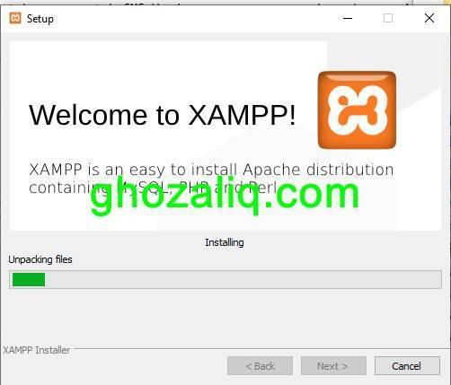install candy CBT XAMPP